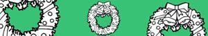 раскраски Рождественские венки и гирлянды