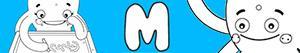 раскраски Имена для девочек с буквой M