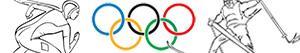 раскраски Зимние Олимпийские игры