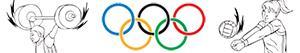 раскраски Олимпийские спорта. Разное